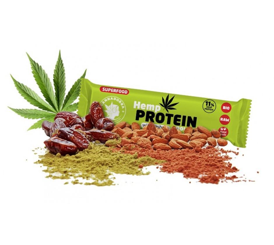 Ενεργειακή μπάρα με πρωτεΐνη κάνναβης και κάσιους, 40gr