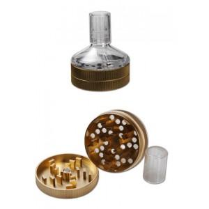 Τρίφτης καπνού - Grinder χρυσό (2part)