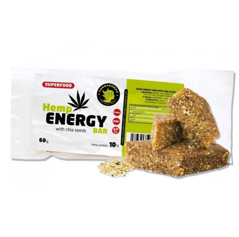 Ενεργειακή μπάρα με σπόρους κάνναβης και σπόρους Chia, 60gr